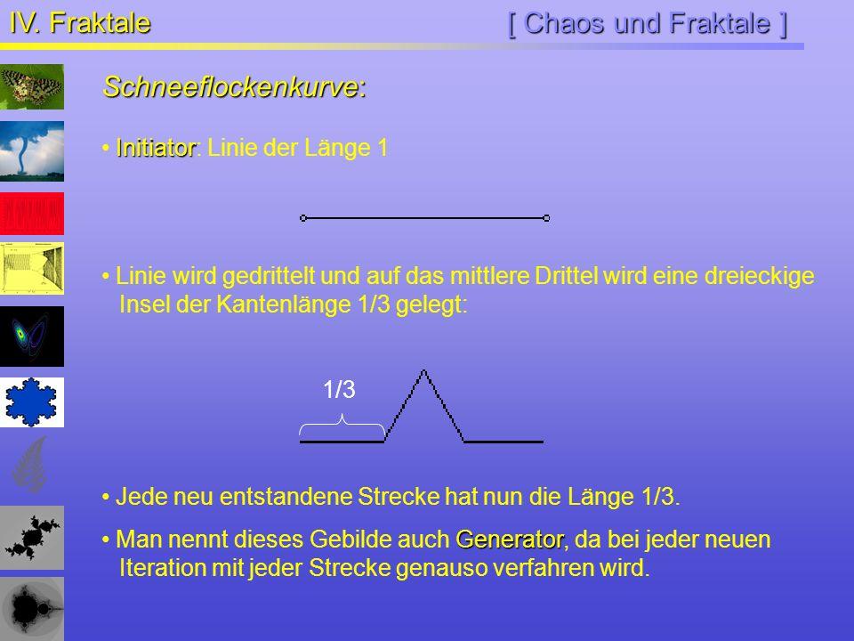 IV. Fraktale [ Chaos und Fraktale ] Schneeflockenkurve: